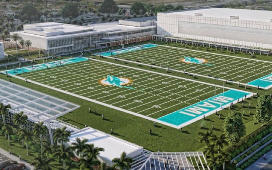 GONDOLA RIDE PLANNED AT HARD ROCK STADIUM, PLUS NEW RENDERINGS OF TRAINING FACILITY